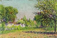 sommerliche landschaft by gustave camille gaston cariot