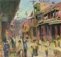 markt im chinesenviertel von los angeles by florence upson young