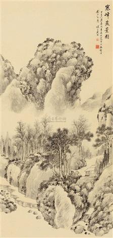 寒峰岌嶪 landscape by dai xi