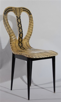 chaise mandoline by gio ponti and piero fornasetti