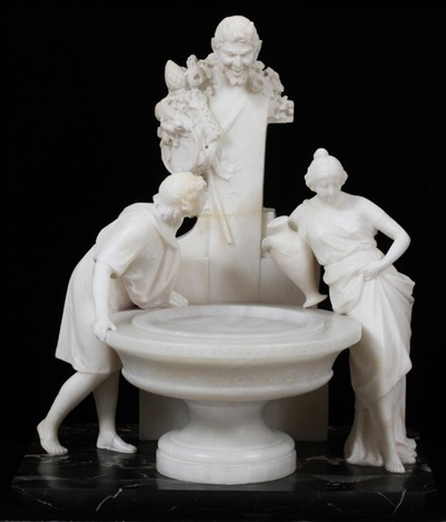 figures at a fountain by aristide petrilli
