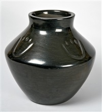blackware bear claw jar by mela youngblood