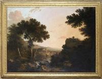 apollo och daphne i landskap by abraham genoels