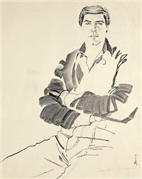 portrait of craig johnson by don bachardy