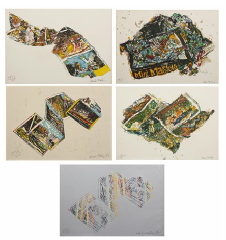 miami postcard portfolio of 5 by malcolm morley