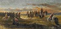 reiterheer (napoleon in ägypten?) by otto von faber du faur