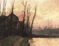 paisaje de atardecer by mathilde lenoir