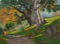 california autumn (oak & sycamores) by charles partridge adams