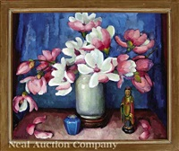 rose magnolias (magnolia japonica) by marie atkinson hull