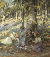 woodcutter's children by william stewart macgeorge