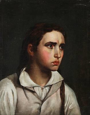 portræt af en ung kvinde portrait of a young woman after c w eckersberg by hans ditlev christian martens