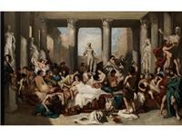 des romains de la décadence (sketch) by thomas couture