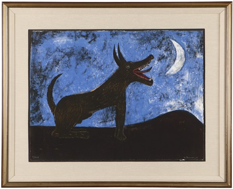 dog barking at moon perro ladrando a la luna from the mexican masters suite by rufino tamayo