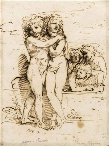 cupid and hymen accompanied by amorini 3 others 4 works by andrea appiani