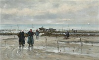 the mussel gatherers by emile louis vernier