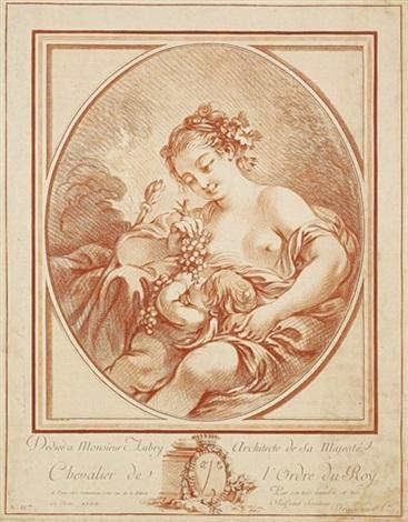erigone und amor erotische szene by gilles antoine demarteau