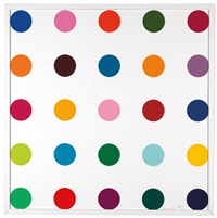 bromobenzotrifluide (from woodcut spots) by damien hirst