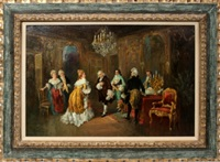 parlor engagement scene by rodriguez