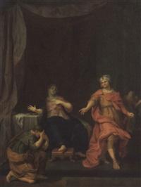 joseph vor potifar von dessen gattin bezichtigt by gerard wigmana