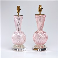 table lamps (pair) by murano
