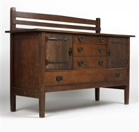 sideboard no.814 by gustav stickley