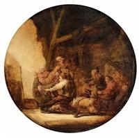 a peasant brawl by benjamin gerritsz cuyp