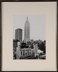 view of the empire state building by rudy burckhardt