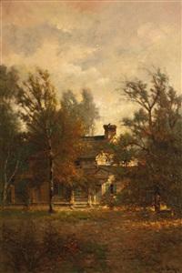 poe's cottage, fordham, new york by edwin deakin