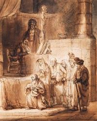 die darbringung im tempel by samuel van hoogstraten