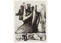 mother and child shell by henry moore