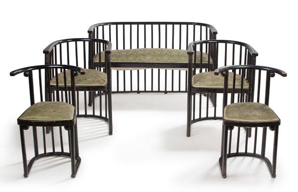 Petit Salon Composé Dun Canapé Deux Fauteuils Et Deux Chaises Set - Canape et deux fauteuils