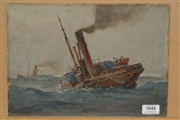 the old paddle trawler flying sylph by ernest dade