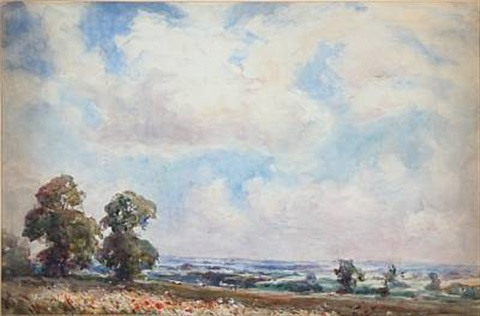 an english landscape by thomas william morley