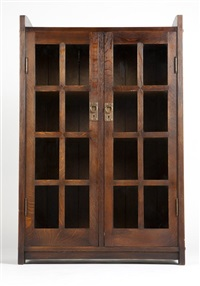 bookcase no.716 by gustav stickley