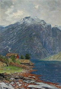 landscape from norway by hulda gronneberg