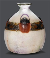 vase scarabé by gabriel argy-rousseau