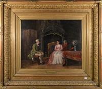 scène galante intérieur by léon marie constant dansaert
