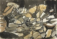 woodpile by arthur dove