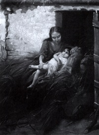 mother and her sleeping child by henry campotosto