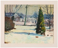 snow scene by edith m. miller