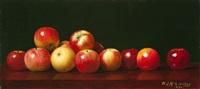 apples on a table by william j. mccloskey