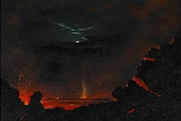 a view of kilauea crater by jules tavernier