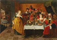 salome und die enthauptung von johannes dem täufer by kaspar (jasper) van den hoecke