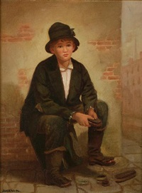 shoe shine boy by charles cole markham