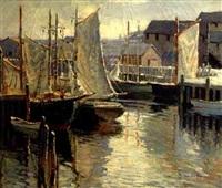 harbor scene by camillo adriani