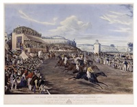 the race for the tradesman's plate, chester (engraved by john harris) by francis calcraft turner