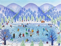 winter skaters by mattie lou o'kelley