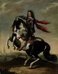 prinz waldemar christian von dänemark im harnisch und zu pferd by wolfgang heimbach