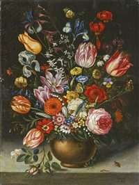 blumenstillleben mit insekten by jan brueghel the elder
