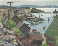 cape anne boat basin by junius james allen